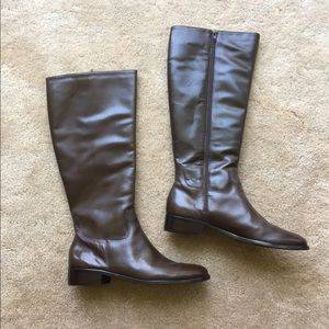 🌟Narrow brown leather boots